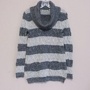 Eight Eight Eight Striped Cable Knit Sweater
